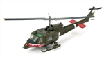 US Army Bell UH-1C Huey Helicopter - Sharks Gun Platoon, 174th AHC, Aces of Spades, 1st Aviation Brigade, II Corps, Vietnam, 1971