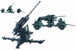 German 88mm Flak 36/37 Anti-Aircraft Gun w/ Trailer - Field Grey