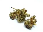 German 88mm Flak 36/37 Anti-Aircraft Gun - Desert Camouflage