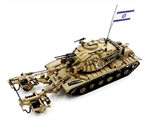 Israeli Magach 6B Medium Tank with Blazer Armor and KMT-4 Mine Roller - Mid East Wars