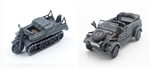 German Recon Company Kubelwagen and Kettenkrad Set - 2. Panzer Division, 1940