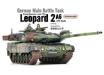 German Kampfpanzer Leopard 2A6 Main Battle Tank - Woodland Camouflage