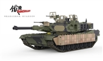 US M1A2 Abrams Main Battle Tank with TUSK I Survivability Kit - Tri-Color Camouflage