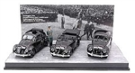 German 1938 Volkswagen Type 87 Peoples Car Three Car Set with Hitler Figurine