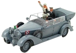 German 1938 770K Grand Mercedes Ceremonial Parade Limousine with German Chancellor and Italian Dictator - Grey