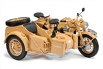 German Zundapp KS750M Motorcycle with Sidecar - Deutsches Afrika Korps