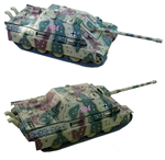 German Late Version Sd. Kfz. 173 Jagdpanther Tank Destroyer in Autumn Ambush Camouflage