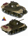 US M4A3 Sherman Medium Tank - 2nd Armored Division