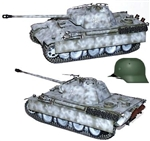 "German Late War Sd. Kfz. 171 PzKpfw V Panther Ausf. G Medium Tank - Panzer Grenadier Division ""Grossdeutschland"""
