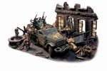 US M16 Multiple Gun Motor Carriage Half-Track in Diorama - 3rd Armored Division, Canham, Task Force Canham, Normandy, 1944