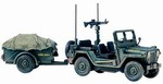 USMC M151 Mutt Utility Truck and Trailer
