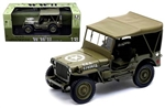 US 1/4 Ton Willys Jeep - Top Up