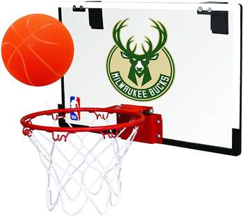 Milwaukee Bucks Basketball Hoop Set Indoor Goal