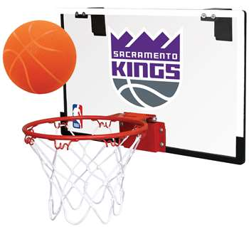 Sacramento Kings NBA Game On Polycarbonate Indoor Basketball Hoop Set