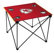 Kansas City Chiefs Deluxe Folding Tailgate Table with Carry Bag