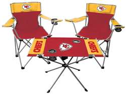 NFL Kansas City Chiefs  3 Piece Tailgate Kit - 2 Chairs - 1 Table