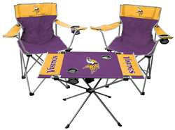 NFL Minnesota Vikings  3 Piece Tailgate Kit - 2 Chairs - 1 Table