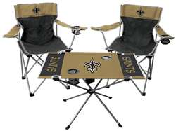 NFL New Orleans Saints  3 Piece Tailgate Kit - 2 Chairs - 1 Table