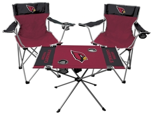 NFL Arizona Cardinals  3 Piece Tailgate Kit - 2 Chairs - 1 Table