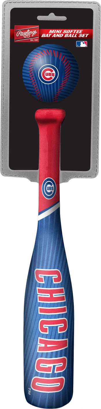 21662572221 MLB Chicago Cubs Mini Slugger Mini Bat   Ball Set Lightweight 13  bat and 2  ...