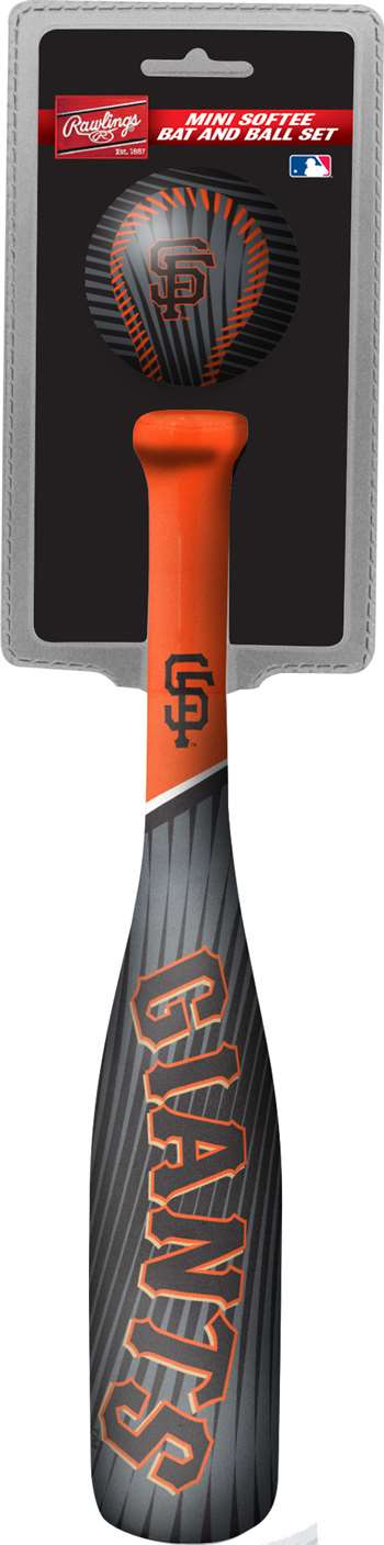 MLB San Francisco Giants Mini Slugger Mini Baseball Bat & Ball Set Lightweight 13? bat and 2? ball