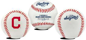 Cleveland Indians  Rawlings Team Logo Baseball