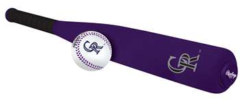 MLB Colorado Rockies Foam Baseball Bat & Ball Set