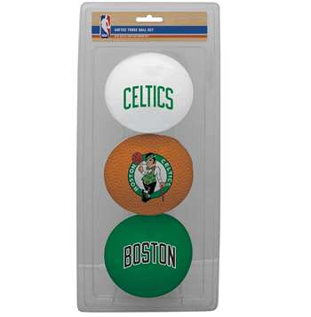 NBA Boston Celtics Three Point Shot Softee Basketball 3-Ball Set