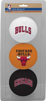 Chicago Bulls NBA 3-Ball Soft Basketball Set