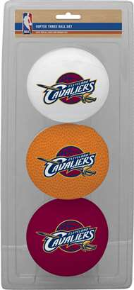 Cleveland Cavaliers 3 Point Shot Softee Basketball Set