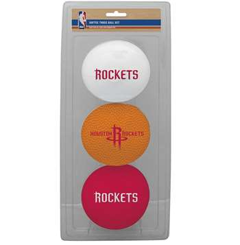 NBA Houston Rockets Three Point Shot Softee Basketball 3-Ball Set
