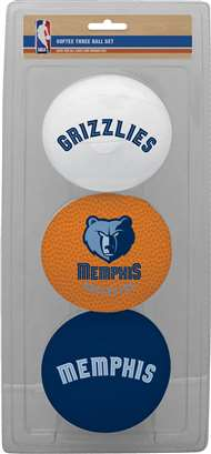 Memphis Grizzlies NBA 3-Ball Soft Basketball Set