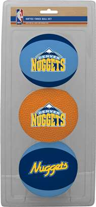 Denver Nuggets NBA 3-Ball Soft Basketball Set