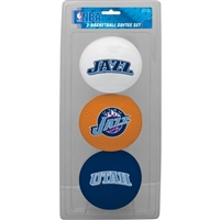 Utah Jazz NBA 3-Ball Soft Basketball Set