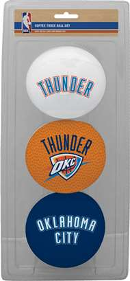 Oklahoma City Thunder NBA 3-Ball Soft Basketball Set