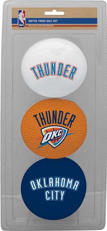 NBA Oklahoma City Thunder  Three Point Shot Softee Basketball 3-Ball Set