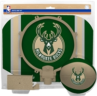 Milwaukee Bucks  NBA Indoor Softee Basketball Hoop Slam Dunk Set