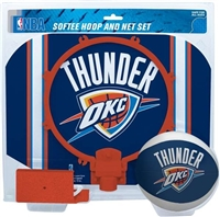 Oklahoma City Thunder  NBA Indoor Softee Basketball Hoop Slam Dunk Set