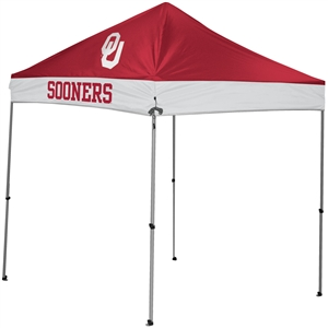 University of Oklahoma Sooners 9x9 Straight Leg Canopy with Carry Bag - Rawlings