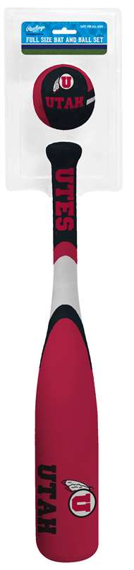 UNIVERSITY OF UTAH Utes Grand Slam Baseball Bat Set