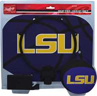 LSU Tigers Slam Dunk Indoor Basketball Hoop Set Over The Door