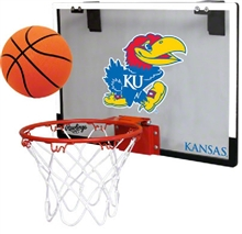 University of Kansas Jayahwks Indoor Basketball Goal Hoop Set Game