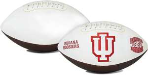 Indiana University Hoosiers Signature Series Autograph Full Size Rawlings Football