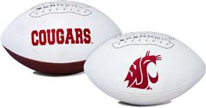 Washington State University Cougars Signature Series Autograph Full Size Rawlings Football