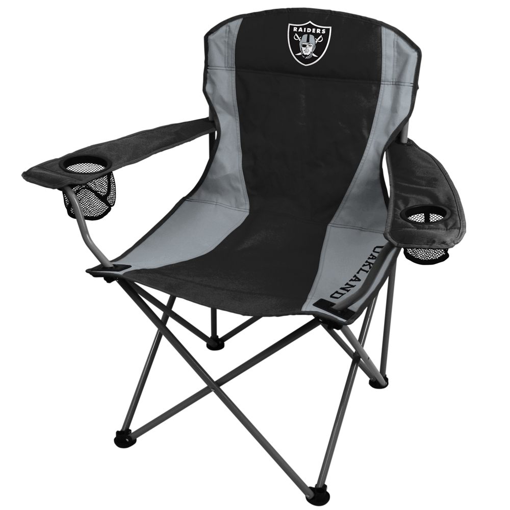 Etonnant Oakland Raiders Folding Chair XL Big Boy NFL