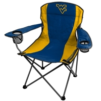 West Virginia Mountaineers Folding Chair XL Big Boy 300 lbs