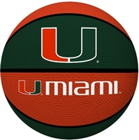 University of Miami Hurricanes Full Size Crossover Basketball - Rawlings