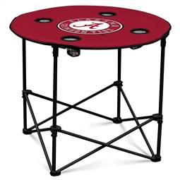 University of Alabama Crimson Tide Round Folding Table with Carry Bag