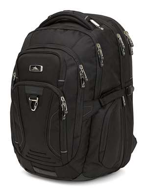 High Sierra Endeavor Business TSA Elite Backpack  BLACK