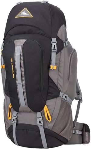 High Sierra Pathway Frame Packs 90L Black/Slate/Gold